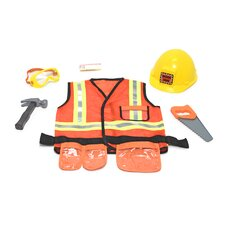<strong>Melissa and Doug</strong> Construction Worker Role Play Costume Set