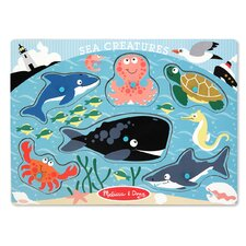 <strong>Melissa and Doug</strong> Sea Creatures Peg Puzzle