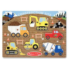 <strong>Melissa and Doug</strong> Construction Site Peg Puzzle