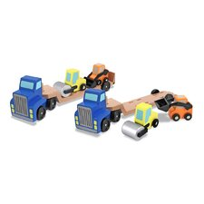 <strong>Melissa and Doug</strong> Low Loader Truck Vehicle Set