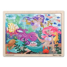 <strong>Melissa and Doug</strong> Mermaid Fantasea Wooden 48 Piece Jigsaw Puzzle Set