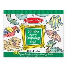 Animal Jumbo Coloring Pad