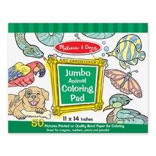 Animal Jumbo Coloring Pad