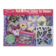 Butterfly Sunset Peel and Press Sticker by Number
