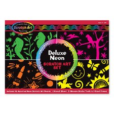 Deluxe Neon Scratch Art Set