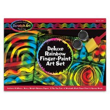 Deluxe Rainbow Finger-Paint Art Set