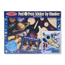 Space Mission Peel and Press Sticker by Number