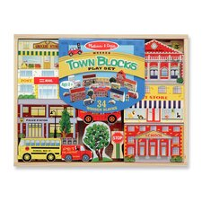<strong>Melissa and Doug</strong> Town Blocks Play Set