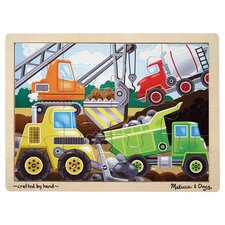 <strong>Melissa and Doug</strong> Construction Site Wooden Jigsaw Puzzle