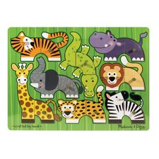 Zoo Mix N' Match Wooden Peg Puzzle