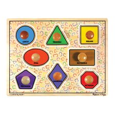<strong>Melissa and Doug</strong> Large Shapes Jumbo Wooden Knob Puzzle