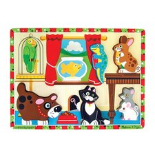 <strong>Melissa and Doug</strong> Pets Chunky Wooden Puzzle