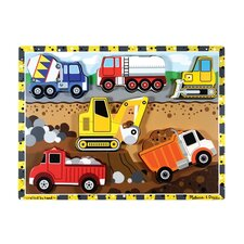 <strong>Melissa and Doug</strong> Construction Chunky Wooden Puzzle