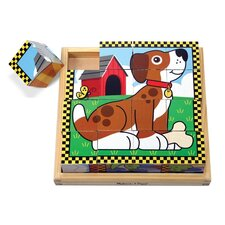 <strong>Melissa and Doug</strong> Pets Cube Wooden Puzzle