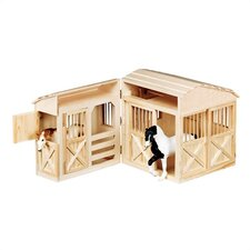 Folding Horse Stable Play Set
