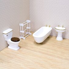 <strong>Melissa and Doug</strong> Dollhouse Bathroom Furniture