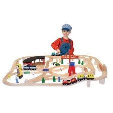 <strong>Melissa and Doug</strong> Wooden Railway Set