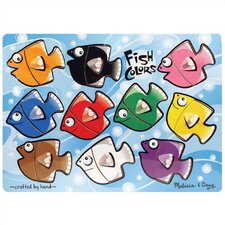 <strong>Melissa and Doug</strong> Fish Colors Mix'n Match Wooden Puzzle