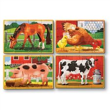 <strong>Melissa and Doug</strong> Farm in a Box Wooden Jigsaw Puzzle