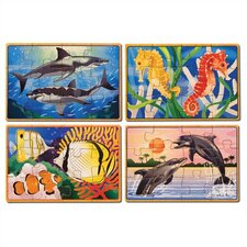 Sea Life in a Box Wooden Jigsaw Puzzle
