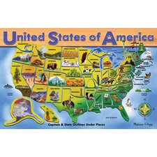 <strong>Melissa and Doug</strong> U.S.A. Map Puzzle