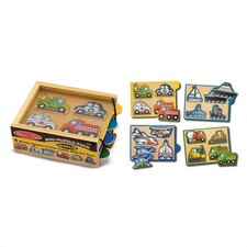 <strong>Melissa and Doug</strong> Vehicles Mini Puzzle Pack