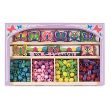 <strong>Melissa and Doug</strong> Butterfly Wooden Bead Set Arts & Crafts Kit