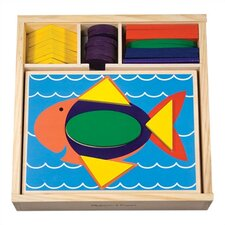 <strong>Melissa and Doug</strong> Beginner Pattern Blocks