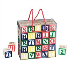 <strong>Melissa and Doug</strong> Wooden ABC/123 Blocks