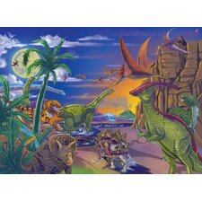<strong>Melissa and Doug</strong> Land of Dinosaurs Cardboard Jigsaw Puzzle