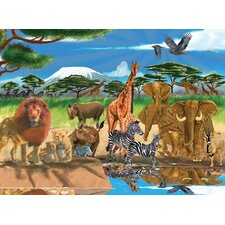 On the Savannah Cardboard Jigsaw Puzzle