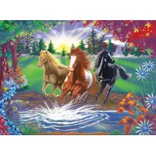 River Run Cardboard Jigsaw Puzzle