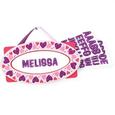 <strong>Melissa and Doug</strong> Hearts Door Plaque