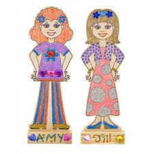 <strong>Melissa and Doug</strong> DYO Fashion Dolls