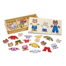 <strong>Melissa and Doug</strong> Wooden Bear Family Dress-Up Puzzle