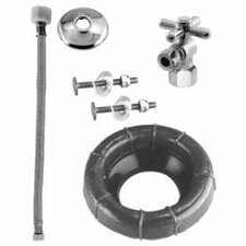 Wax Ring and Ball Valve Toilet Kit with Cross Handle