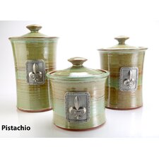 <strong>Buyers Choice</strong> Artisans Domestic Ceramic Canister (3 Piece Set)