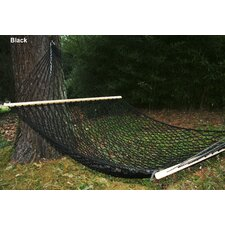 Phat Tommy Hand Woven Olefin Rope Hammock with Stand
