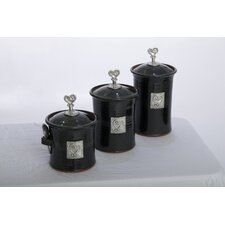 Artisans Domestic Ceramic Canister(Set of 3)