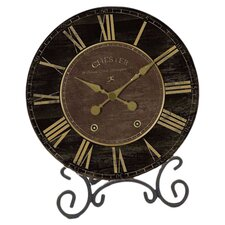 <strong>Infinity Instruments</strong> Black & Gold Table Clock