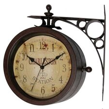 Two Sided Charleston Clock Thermometer