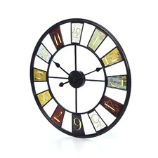 "Oversized 24"" Kaleidoscope Wall Clock"