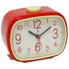 That '70s Retro Alarm Clock in Red with Cream Face