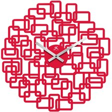 Helix Wall Clock in Red