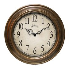Atheneum Wall Clock in Copper