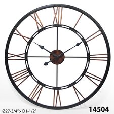 "Oversized 28"" Fusion Open Dial  Wall Clock"