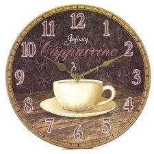 Dreamy Cappuccino Wall Clock