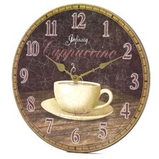 "14"" Dreamy Cappuccino Wall Clock"