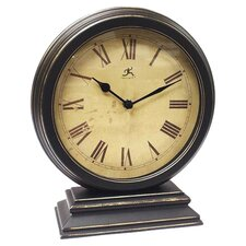 Distressed Round Table Clock