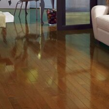 "Color Strip 2-1/4"" Solid White Oak Flooring in Chestnut High Gloss"